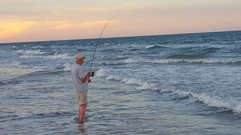 surf fishing with lures