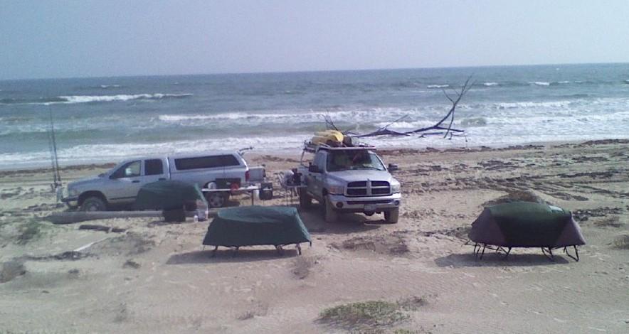beach camping on padre island national seashore