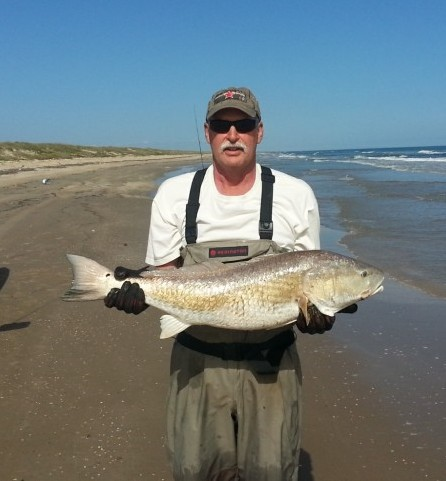 Ken Kuhn with a bull redfish