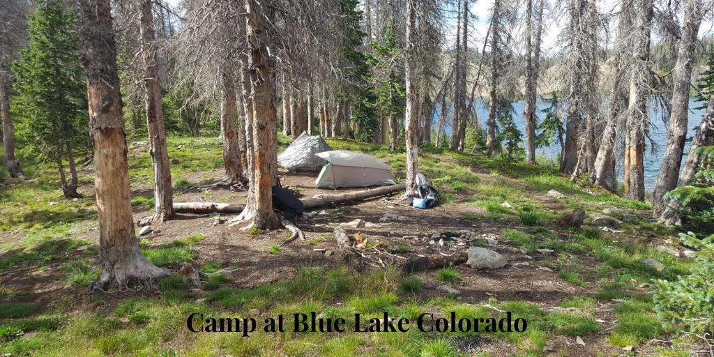 remote camp Blue Lake Colorado