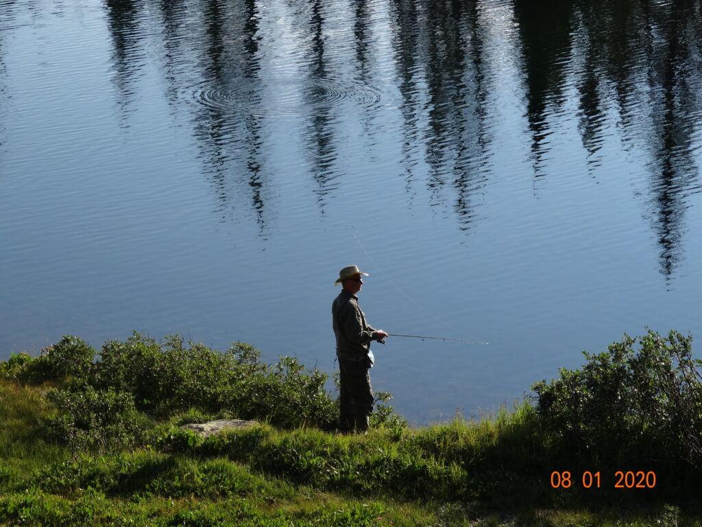 trout fishing Blue Lake