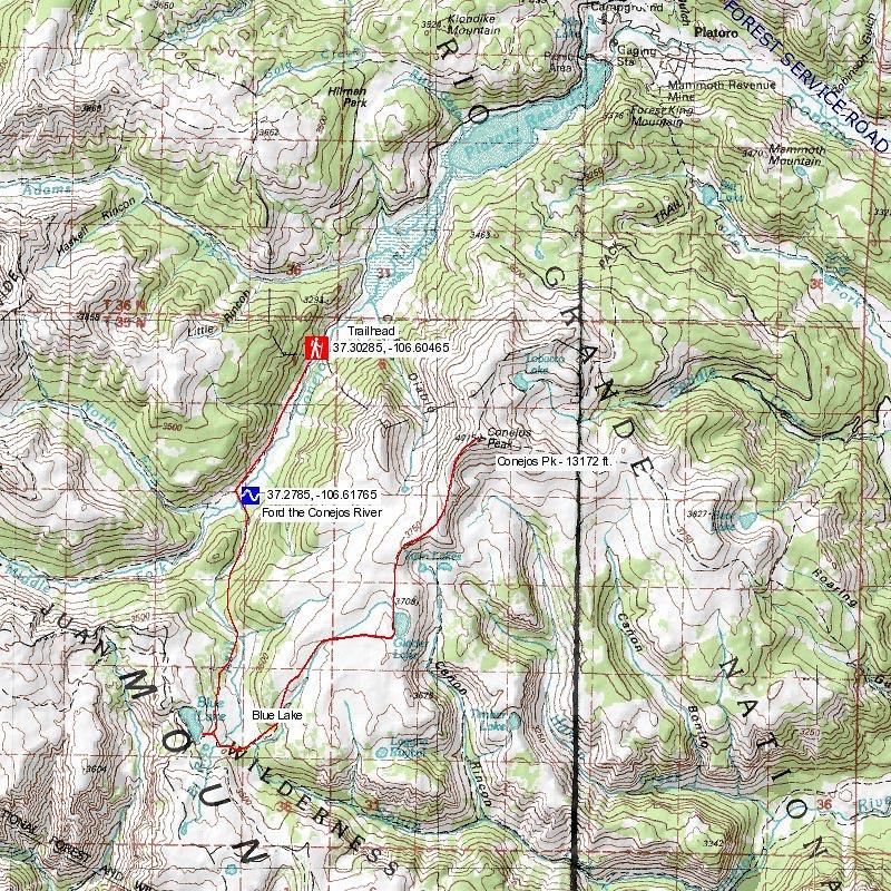 san juan wilderness map