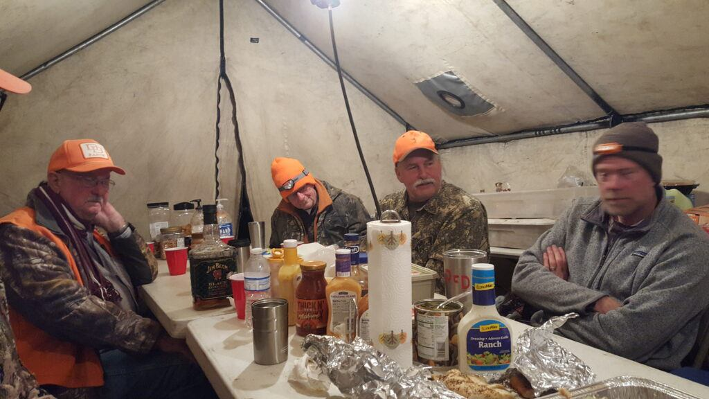 colorado elk hunt - inside cook tent