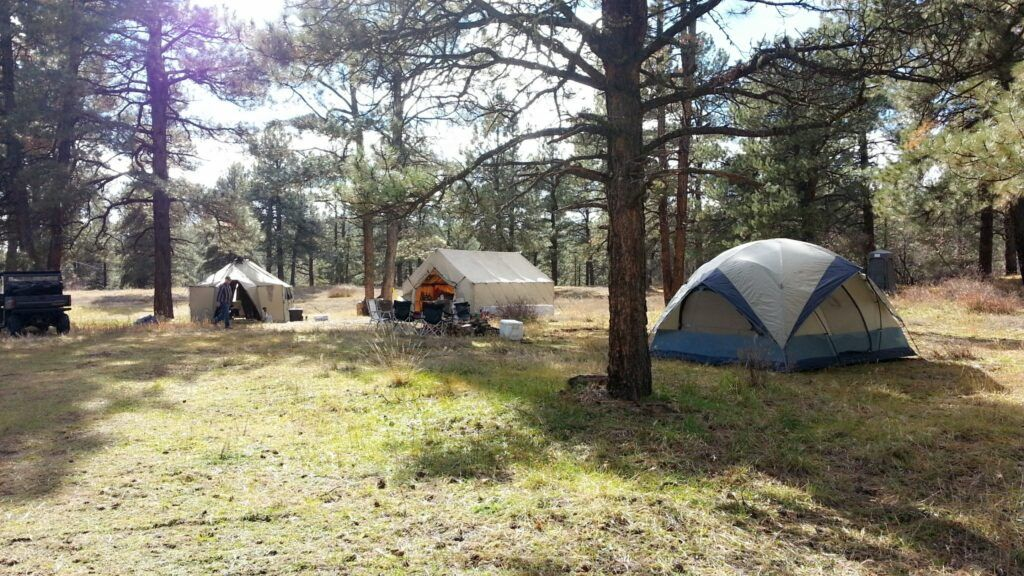 elk camp set up - outfitting a colorado elk hunt