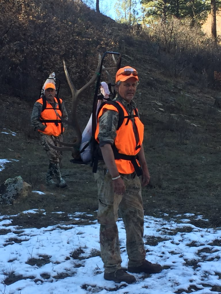 elk pack out - outfitting a colorado elk hunt