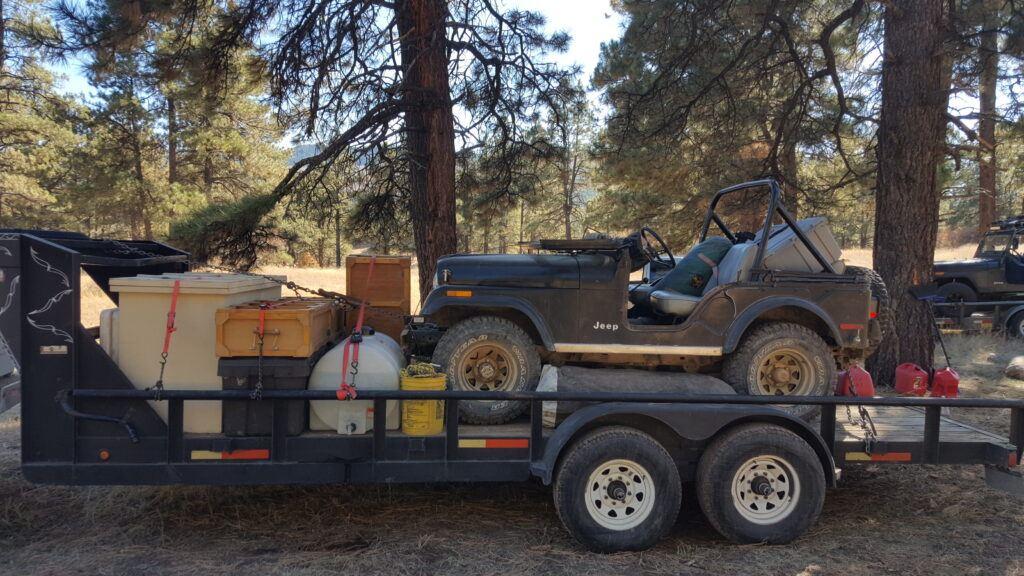 elk hunt - trailer loaded
