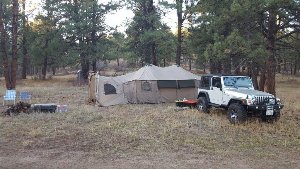 elk hunt - sleeping tent