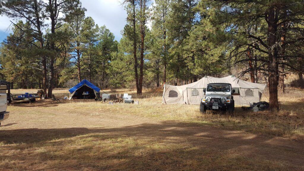 elk hunt - base camp