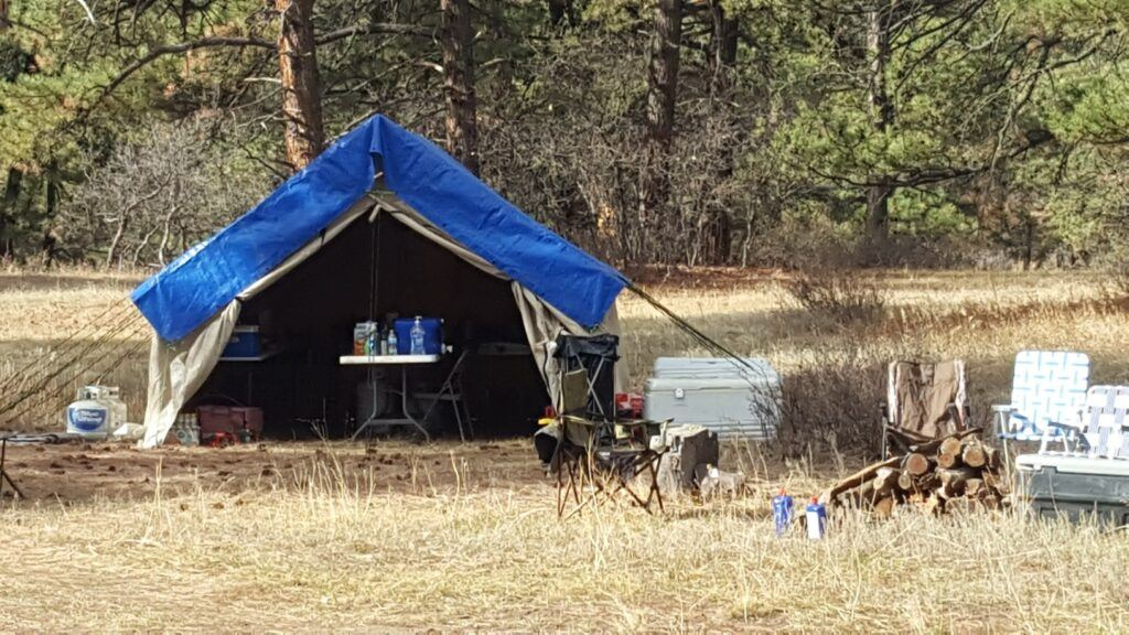 elk hunt - montana canvas cook tent