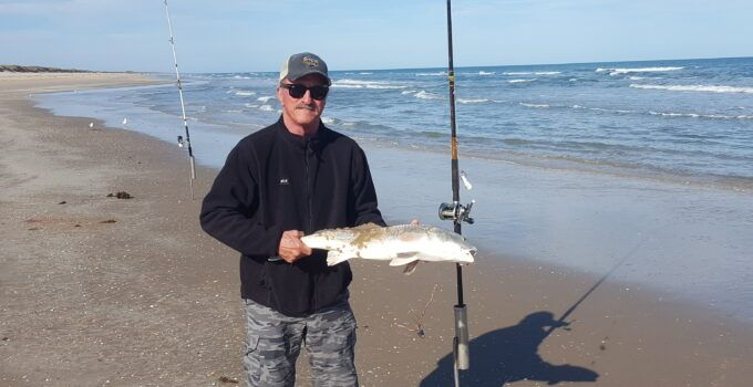 surf fishing - Texas winterfime surf fishing