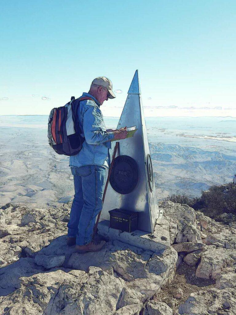 Guadalupe Peak log book