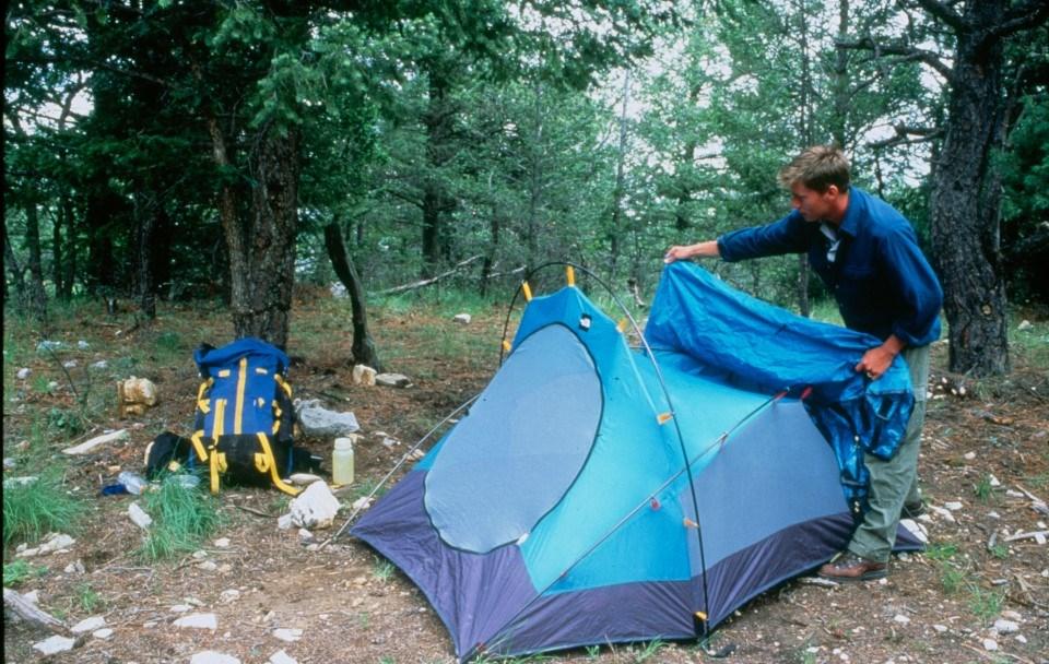 Guadalupe Peak - wilderness camp