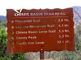 Big Bend National Park - trail marker