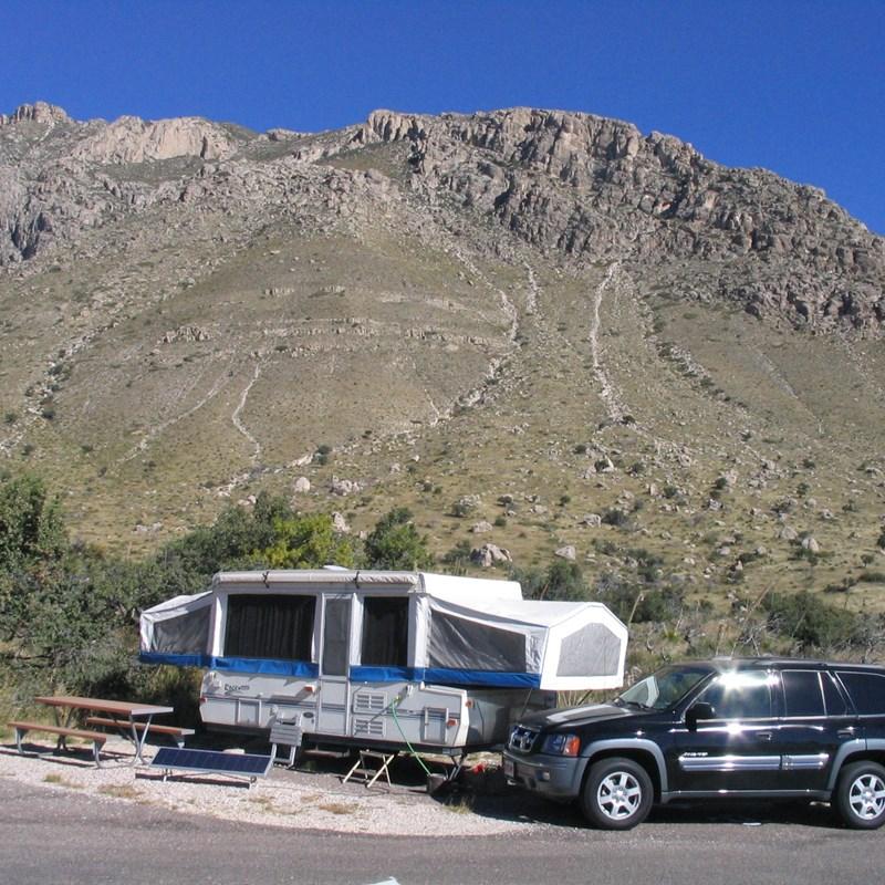 Guadalupe Peak - pine springs RV campsite
