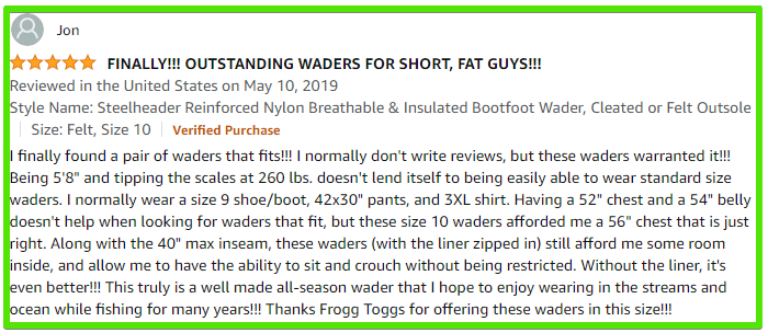 frogg toggs steelheader waders review 1