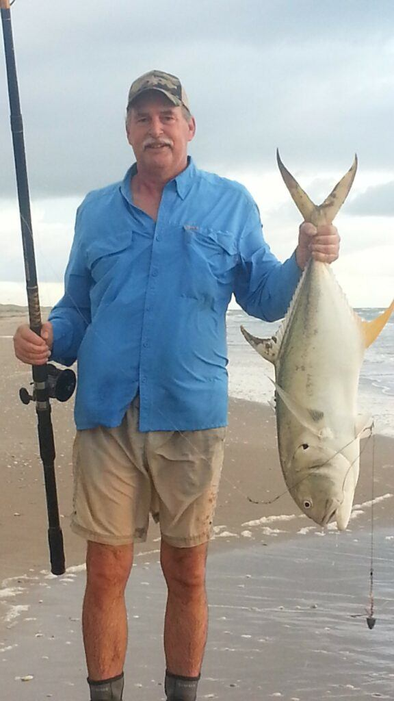 Ken Kuhn with a Jack Crevalle on Padre Island Texas