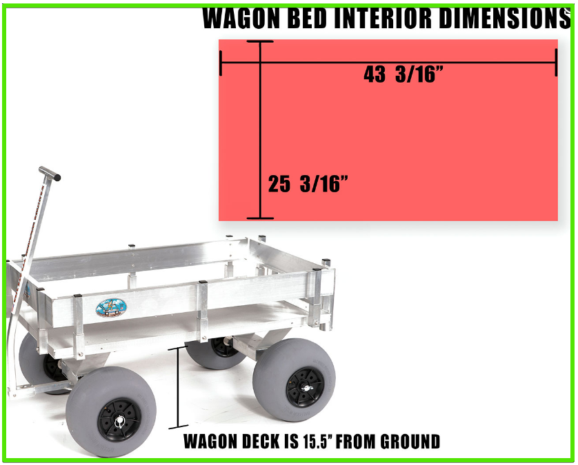 alumacart big kahuna beach wagon