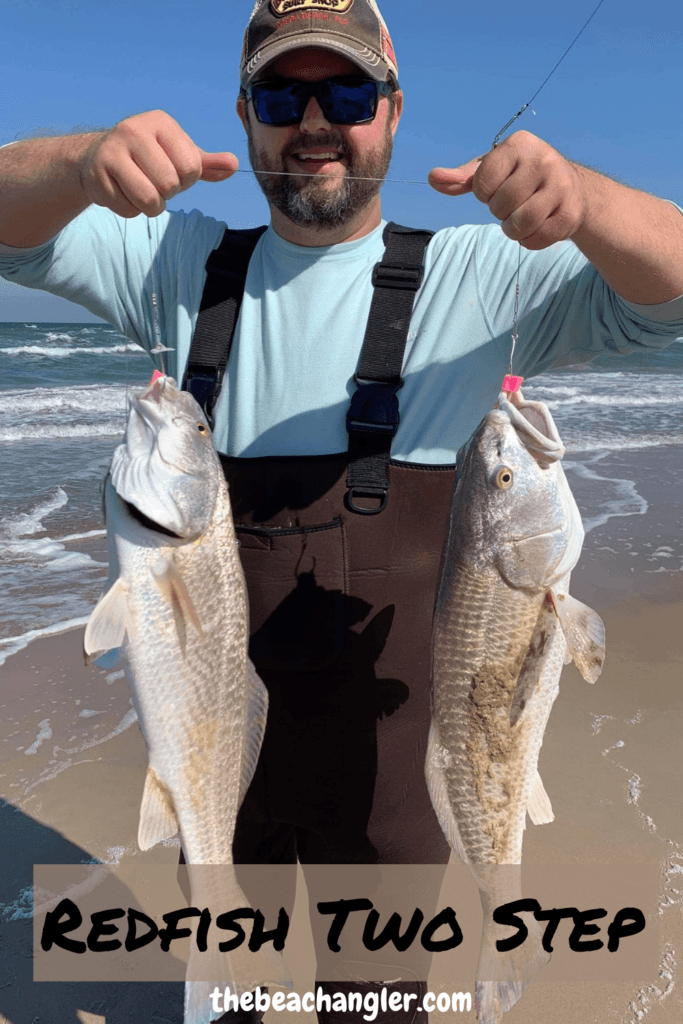 Redfish two at a time. Surf Fishing Quick Start Guide Review