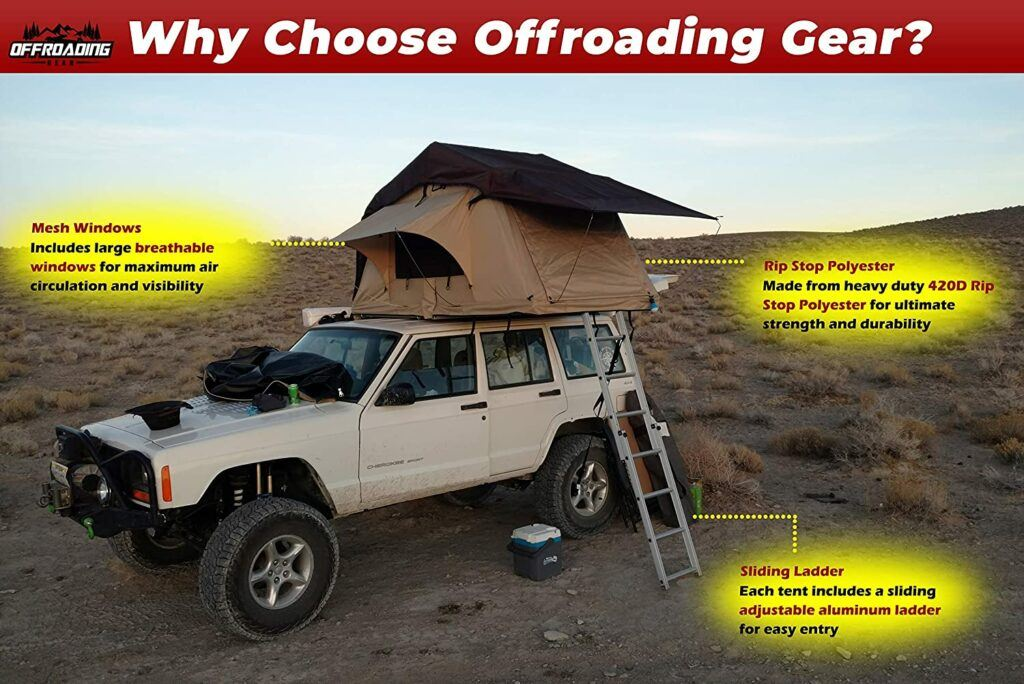 offroading gear roof top tent