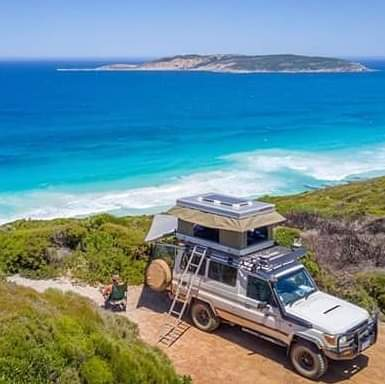 roof top tent camping at the beach