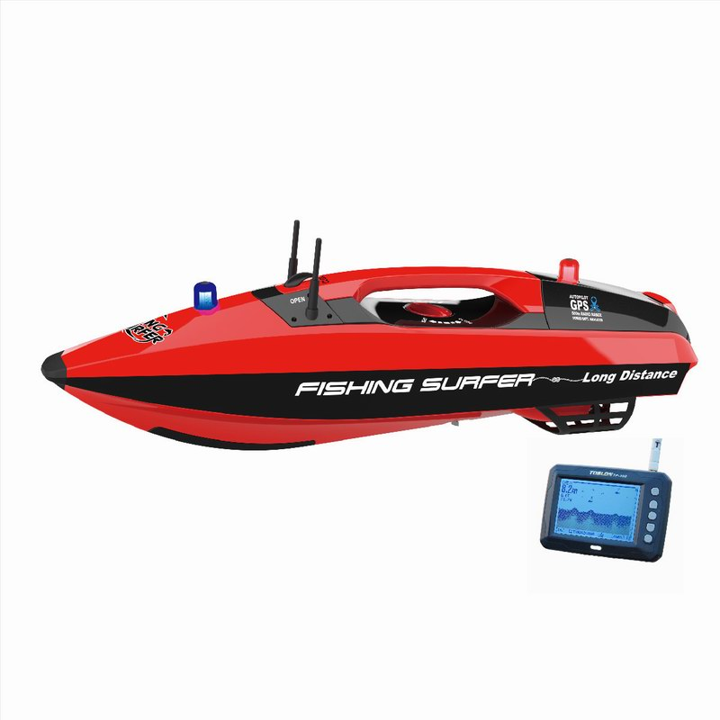 Fishing Surfer RC Bait Boat with fishi finder option