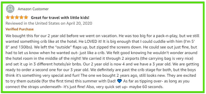 Kamprite Kid's cot review