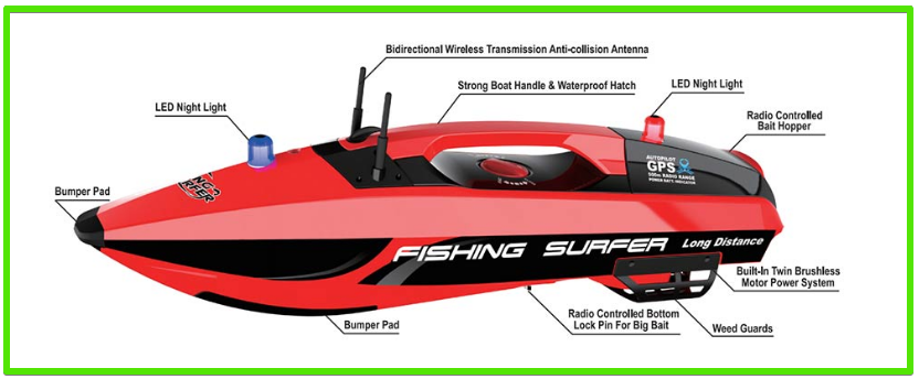 Fishing Surfer RC saltwater bait boat