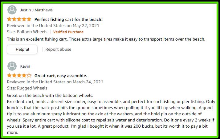 harbor mate fishing cart customer review