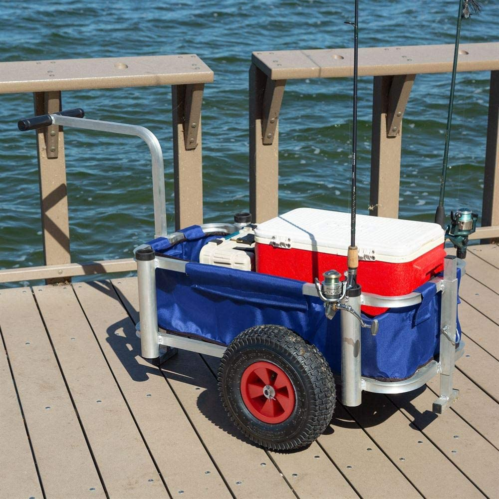 HARBORMATE FISHING CART LOADED WITH GEAR AT THE PIER