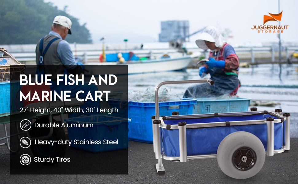 JUGGERNAUT BLUE FISH CART